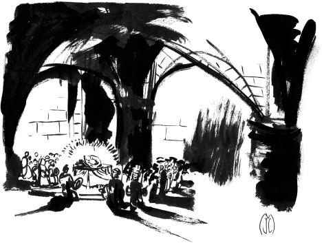 Dans la cathédrale1